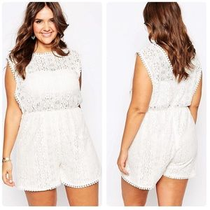 Alice & You Lace Detail Romper ASOS